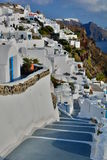 Oia. Santorini, Cyclades islands. Greece. Santorini  is an island in the southern Aegean Sea. It forms the southernmost member of the Cyclades group of islands Royalty Free Stock Images