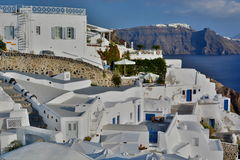 Oia. Santorini, Cyclades islands. Greece. Santorini  is an island in the southern Aegean Sea. It forms the southernmost member of the Cyclades group of islands Royalty Free Stock Photo