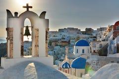 Oia, Santorini, Cyclades islands. Greece Stock Photos