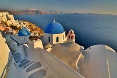 Oia, Santorini, Cyclades islands. Greece. Santorini  is an island in the southern Aegean Sea. It forms the southernmost member of the Cyclades group of islands Stock Photography