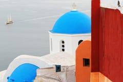 Oia, Santorini-eiland, Griekenland Stock Foto's