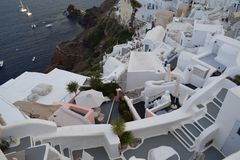 Oia Santorini, ett ställe som du önskar att vara Royaltyfri Foto