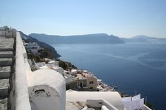 Oia Santorini Grèce image stock