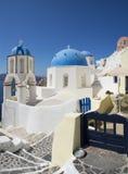Oia Santorini Grécia Imagens de Stock