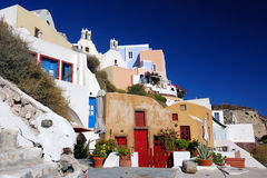 Oia, Santorini in Grecia Fotografia Stock