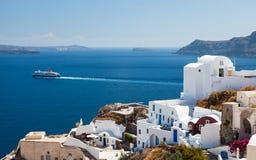 Oia Santorini Grecia Europa Foto de archivo libre de regalías