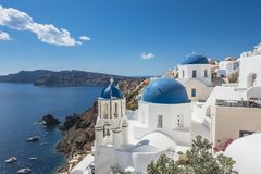 Oia Santorini Grecja zdjęcie stock