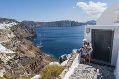 Oia Santorini Grecja Obraz Royalty Free