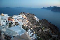 Oia (Santorini Grecja -) Zdjęcie Royalty Free