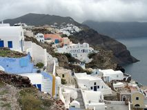 Oia on Santorini, Greece Stock Photos