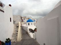 Oia on Santorini, Greece Royalty Free Stock Photography