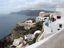 Oia on Santorini, Greece Royalty Free Stock Photo