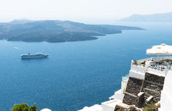 Oia in Santorini Greece Stock Photography