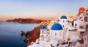 Oia, Santorini Greece. Oia with caldera view in Santorini, Greece royalty free stock images