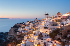 Oia Santorini Greece at dusk Royalty Free Stock Photography
