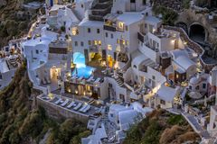 Oia santorini greece. Vier of oia village , santorini greece Royalty Free Stock Photo