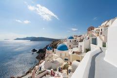 Oia Santorini Grekland Arkivfoto