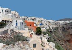 Oia Santorini, Grekland Arkivbild