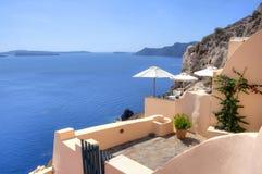 Oia, Santorini, Griechenland Stockbild