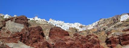 Oia, Santorini, Griechenland Stockbilder