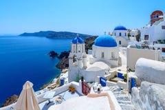 Oia, Santorini, Griechenland Stockfoto