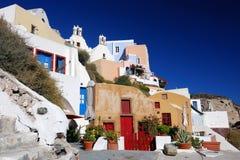 Oia, Santorini in Griekenland Stock Foto