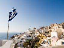 Oia, Santorini, Griekenland Stock Foto