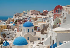Oia Santorini Griekenland Royalty-vrije Stock Fotografie