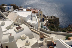 Oia on Santorini island Royalty Free Stock Photos