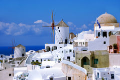 Oia on Santorini Island Stock Photo