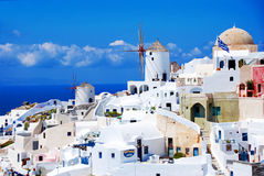 Oia on Santorini Island. Santorini island blue sky - Oia town - Greece Stock Photo