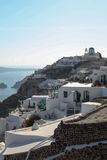 Oia on Santorini island in the Cyclades Stock Photo