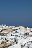 Oia on Santorini island in the Cyclades Stock Image