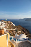 Oia on Santorini island in the Cyclades Stock Images