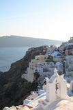 Oia on Santorini island in the Cyclades Royalty Free Stock Photography