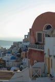 Oia on Santorini island in the Cyclades. (Greece Royalty Free Stock Photo