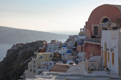 Oia on Santorini island in the Cyclades. (Greece Royalty Free Stock Images