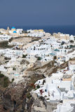 Oia on Santorini island in the Cyclades Royalty Free Stock Photos