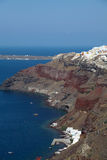 Oia on Santorini island in the Cyclades Royalty Free Stock Image