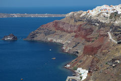Oia on Santorini island in the Cyclades Royalty Free Stock Images