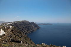 Oia on Santorini island in the Cyclades Stock Photography