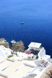 Oia on Santorini Island. The Cyclades, Greece. Oia or Ia is a small town and former community in the South Aegean on the islands of Thira Santorini and Therasia Stock Photography