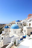 Oia on Santorini Island. The Cyclades, Greece. Oia or Ia is a small town and former community in the South Aegean on the islands of Thira Santorini and Therasia Royalty Free Stock Photography