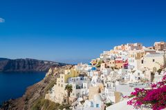 Oia in Santorini island Greece Stock Photo