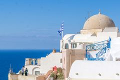 Oia in Santorini island Greece Stock Photos