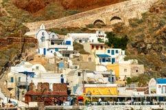 Oia, Santorini Island - Landscape in summertime Stock Image