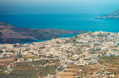 Oia, Santorini Island - Landscape in summertime Royalty Free Stock Photography