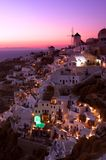 Oia Santorini Sunset Royalty Free Stock Image