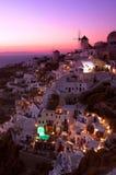 Oia Santorini Sunset Royalty Free Stock Image