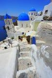 Oia Santorini (Thira) blanc de Grèce - île photographie stock
